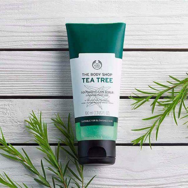 اسکراب پاک کننده صورت درخت چای بادی شاپ مناسب پوست های لکه دار 100 میل