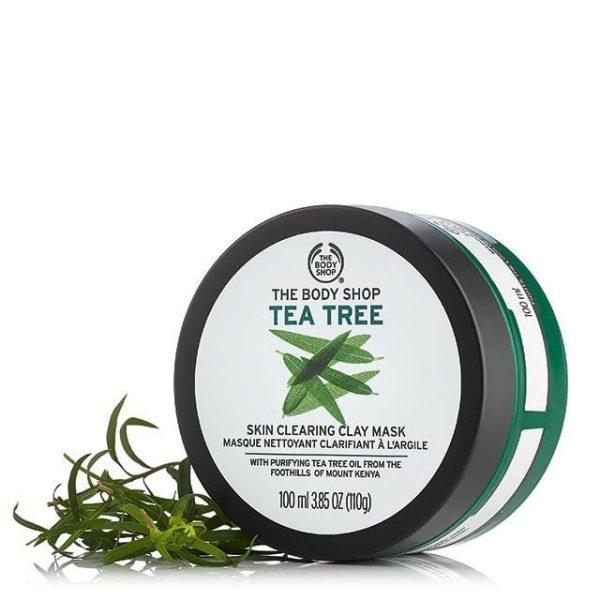 ماسک خاک رس درخت چای بادی شاپ مناسب پوست های چرب، مستعد آکنه و لک 100 میل